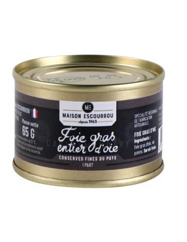 Boîte foie gras d'oie entier