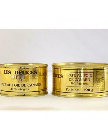 Conserve de pâté au foie gras de canard